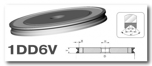 Круг для обработки стекла под трапецию 1DD6V