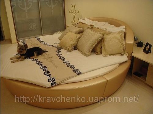 Круглая кровать Глория Люкс. Кровать круглая. Изготовление круглых кроватей.