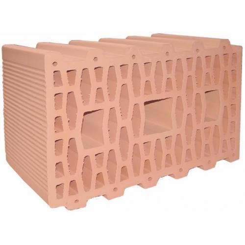Крупноформатные керамические блоки 380 П Г 380х230х215 (эквивалент 9,64 кирпича) выпускаются марок М75 и М100.