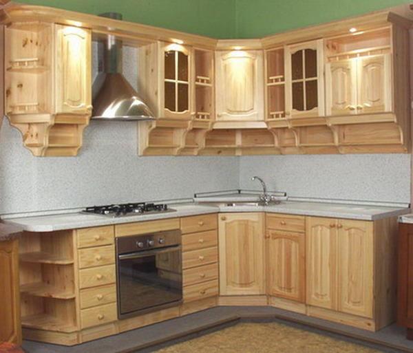 Кухонные гарнитуры из дерева фото своими руками