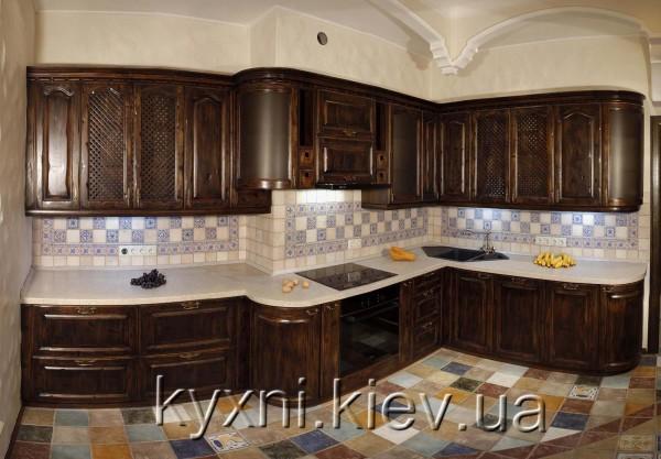 Кухня с фасадами -дуб состаренный