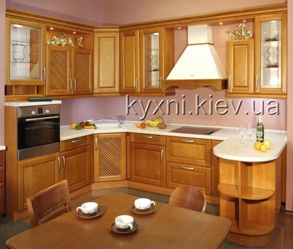 Кухня с фасадами из ольхи