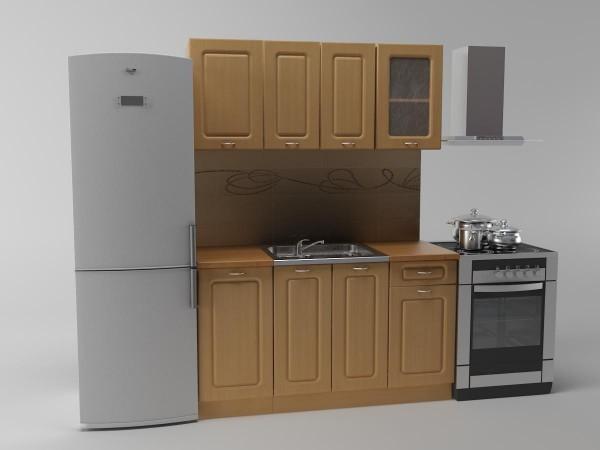 Кухня Валентина 1,4м (9 упаковок) Фасад: МДФ Корпус:ДСП