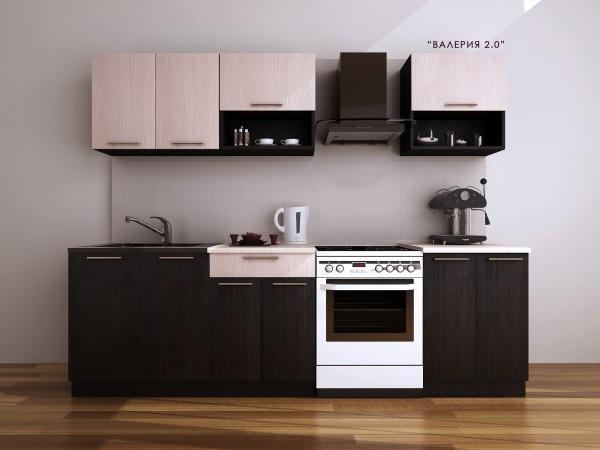 "Кухня""Валерия&q uot; 2 м(10 упаковок) Фасад:МДФ Корпус:ДСП"