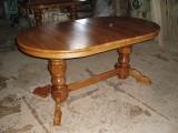 Кухонний стіл масив, дуба. 160*90см(вставка 40см)