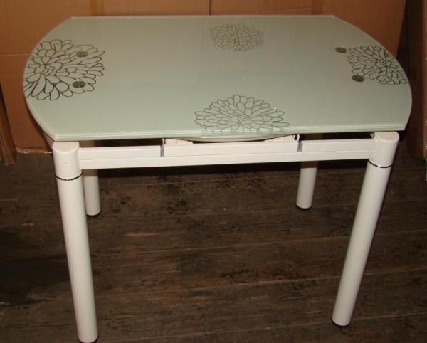 Купить стол стеклянный B808 кремовый, голубое серебро, красный, фиолетовый, обеденный стеклянный стол B808 для кухни