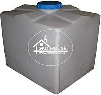 Квадратная пластиковая емкость(бак) 1000 литров. Баня бак для воды.