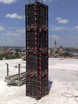 Квадратные колонны опалубка (сечением от 20 до 60 см)