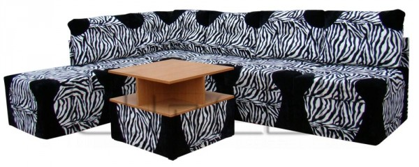 Квадро 41 1 Угловой диван без стол. Код A41517