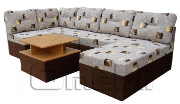 Квадро 41 1 Угловой диван со стол. ДСП Код A41514