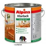 Лак ALPINA KLARLACK (глянсовий) 0,75л