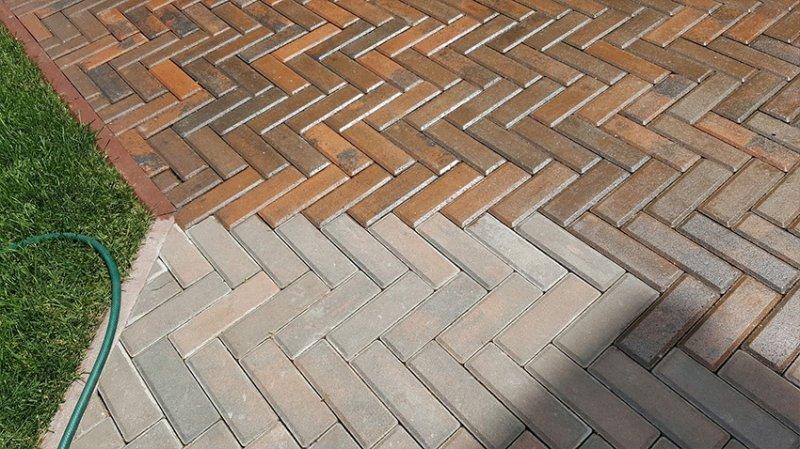 Лак для тротуарной плитки - фото