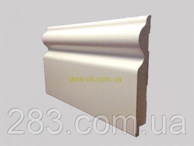 Фото  1 Ламинированный плинтус МДФ Супер профиль, высота 110мм., длина 2,8 м белый 2161751
