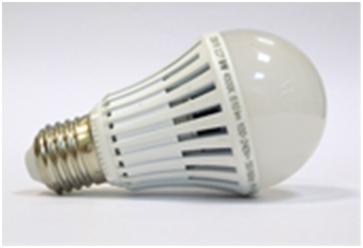 Лампа LED 9w E27 свет теплый 820Лм, холодный 880Лм размер 60х115 мм