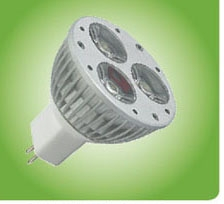 Лампа светодиодная MR16 3х1Вт 2700К 120Лм 12V AC/DC