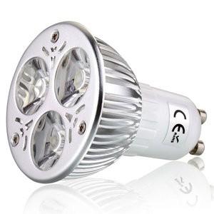 Лампочки с цоколем GU10, 220В эконом-вариант GU10 3W Pure White Color (3*1W LED)