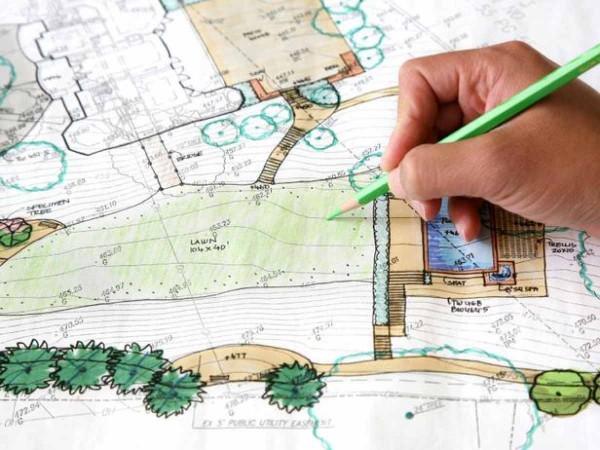 Ландшафтный дизайн, эскизы, 3D визуализация, дендроплан, разбивочный чертеж, посадка растений.