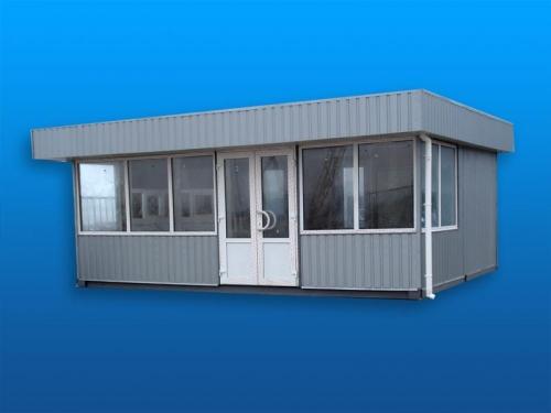 Ларьок торговый 3х4, Окно-витрина (1,15х3,8) металлопластиковые, закрывающаяся ставня и прилавок, евроотделка