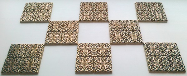 Латунная вставка Лилия 5х5 для напольной керамической плитки и керамогранита