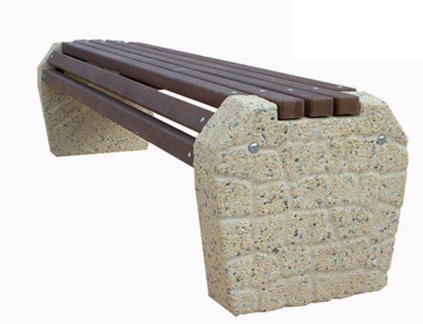 Фото  1 Лавка бетонная без спинки Валун 1914456