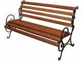 Фото  1 Лавка садово парковая с подлокотником Запад с металлическими ножками №1 1749207