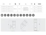 Фото  2 Садово-парковый фасадный светильник GTV LED ALBERO-U PLUS 22Вт 960Лм 4000K IP54, нержавеющая сталь 2438444