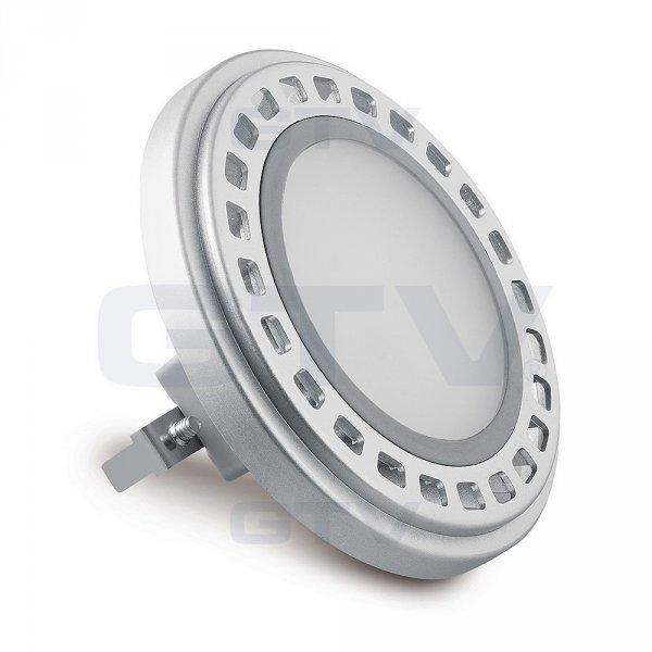Фото  1 Лампа AR111 с цоколем G53 GTV PowerLED 12Вт 850Лм 12VDC 120° 3000K, матовое стекло 1801482
