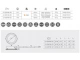 Пылевлагостойкий даунлайт GTV LED VERIS 18Вт 1300Лм Ø200 3000К IP54, алюминий, стекло
