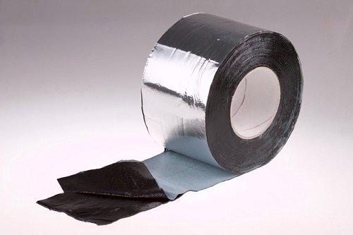 Фото  1 Битумная лента для кровли Plastter 15 см. алюминиевая 1867494