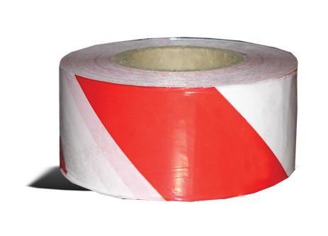 ЛЕНТА СИГНАЛЬНАЯ ОГРАДИТЕЛЬНАЯ (красно-белая) ширина 7 см 200м