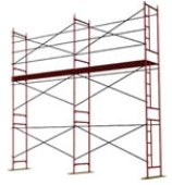 Леса рамные для отделочных и строительных работ. Применяются при всех видах строительства и ремонта. Высота до 60 метров.