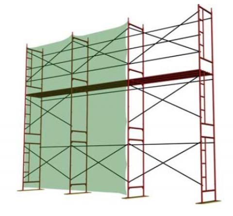 Леса строительные рамные до 30 м для ремонтно-строительных и отделочных работ. Полимерное покрытие.