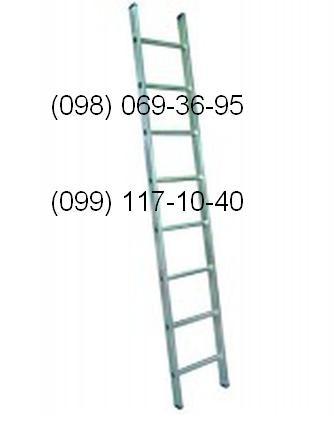 Лестница алюминиевая односекционная. Большой выбор, высокое качество, доставка по всей Украине! В наличии на складе!
