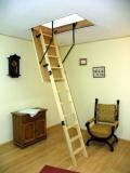 Лестница чердачная складная деревянная, Oman, высота до 2,85м, размер 120х60, 120х70, 130х60, 130х70, до 150 кг