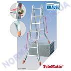 Лестница, четырехсекционная телескопическая, KRAUSE TeleMatic (122322)