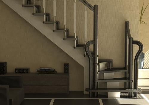 Лестница с касаурами