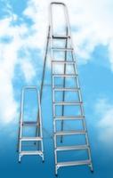 Лестница-стремянка алюминиевая матовая