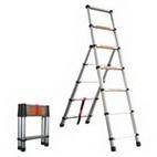 Лестница-стремянка алюминиевая телескопическая WG-603/2,0+1,4 м