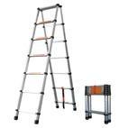 Лестница-стремянка алюминиевая телескопическая WG-603/2,0+2,0 м