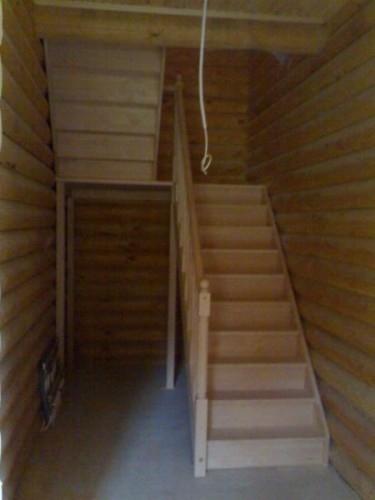 """Лестница""""TOLEDO """"прямая с площадкой, с разворотом на 180 град. ш.95см клен"""