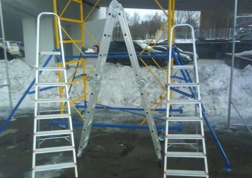 Лестницы алюминиевые, купить лестницу алюминиевую можно у нас в Одессе, Донецке, Харькове, Симферополе, Киеве