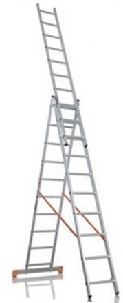 Лестницы алюминиевые универсальные трехсекционные VHR H3
