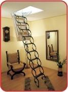 Лестницы чердачные OMAN металлические ножничного типа