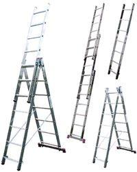 Лестницы приставные, универсальные, многофункциональные. Высота до 9,95 м. Стремянки от 1,0 м до 2,20 м.