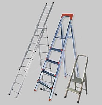 Лестницы, стремянки, трехсекционные, лестницы шарнирные и т. д.
