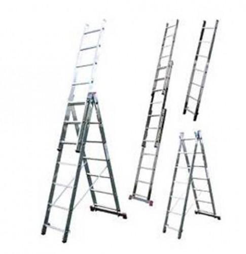 Лестницы трех секционные в ассортименте ( алюминиевая лестница стремянка )