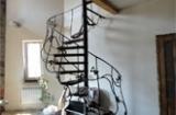 Лестницы винтовые, кованные, сборно-металлические , с различными ступенями (металл, дерево)