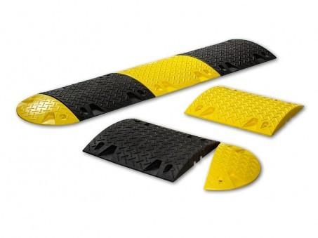 Лежачий полицейский п / п основной (черный, желтый, красный)1. Вес: 12 кг2. Размеры: 490х470х50 мм,3. Нагрузка: 6т4.