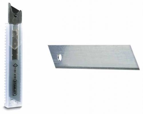 Лезвие STANLEY шириной 18 мм с отламывающимися сегментами (БЛИСТЕР)
