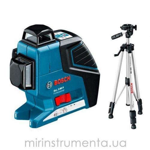 Линейный лазерный нивелир Bosch GLL 3-80 P (0601063306) + штатив BS 150